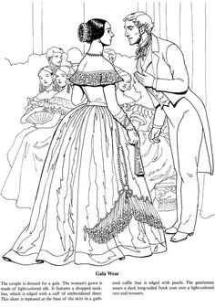 Fashions of the Old South Coloring Book Welcome to Dover Publications