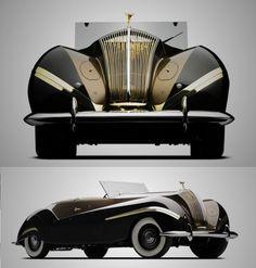 Rolls-Royce Phantom III Cabriolet, 1939. @designerwallace