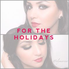 Holiday Looks with Motives Cosmetics Holiday Makeup, Holiday Looks, Cosmetics, Tips, Beauty, Beautiful, Advice, Travel Makeup, Drugstore Makeup