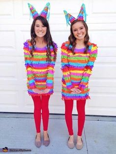 Easy DIY Pinata Costumes for BFF's