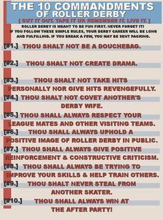 10 Commandments of Roller Derby!