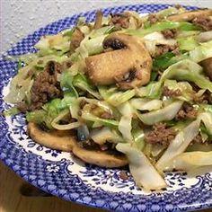 Asian Ground Beef and Cabbage Stir Fry Allrecipes.com
