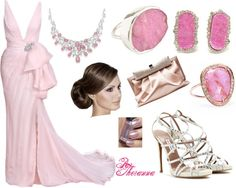 """""""A Pink Night Out"""" by theranna ❤ liked on Polyvore"""