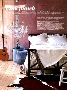 Country bedroom pictures and photos for your next decorating project. Find inspiration from of beautiful living room images Cowgirl Bedroom, Estilo Country, Living Etc, Living Spaces, Bedroom Pictures, Bedroom Ideas, Design Bedroom, Types Of Beds, Pink Bedding