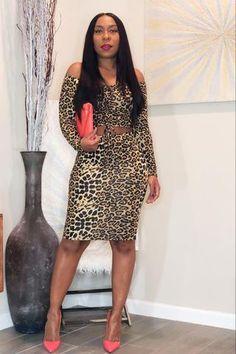 Cheetah print top and skirt fashion set Cheetah Print Outfits, Beautiful Dark Skinned Women, Mini Shirt Dress, Swing Dress, Skirt Fashion, Skirt Set, Adrienne Bailon, High Neck Dress, Fashion Sets