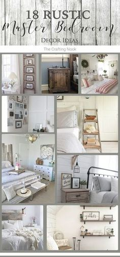 A inspiring round up filled with gorgeous ideas to decorate your bedroom. Check these 18 Rustic Master Bedroom Decor Ideas.