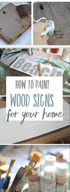 Decorative Painting on Wood Signs
