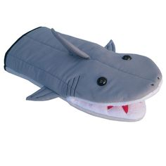 Shark Oven Mitt Character Puppet by collisionware on Etsy Shark Accessories, Shark Puppet, Shark Bait, Shark Shark, Whale Sharks, Cuddle Buddy, Colorful Socks, Colorful Fish, Tropical Fish