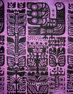 Marimekko motifs, cover up 60s Patterns, Textile Patterns, Textile Design, Print Patterns, Fabric Design, Textiles, Marimekko, Pattern Design, Print Design