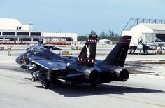 looks killer in black, very menacing Military Jets, Military Weapons, Military Aircraft, Airplane Fighter, Fighter Aircraft, Fighter Jets, Tomcat F14, Grumman Aircraft, Uss Enterprise Cvn 65