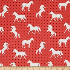 Michael Miller Equestrian Pony Up Red from @fabricdotcom  From Michael Miller Fabrics, this cotton print fabric is from the Equestrian collection and is perfect for quilting, home decor accents and apparel. Colors include red, burgundy and off-white.