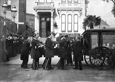 Vintage funeral and hearse