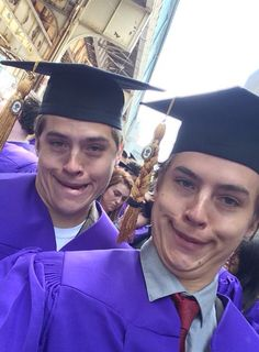 The Sprouse brothers graduation
