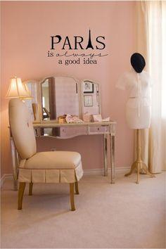 Amazon.com: Paris Is Always A Good Idea vinyl wall decal: Home & Kitchen