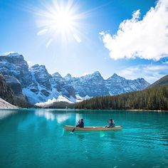 """chrisburkard: """" Still can't beleive this place is real. Natures winning at Moraine Lake (at Moraine Lake, alberta Canada) """" Oh The Places You'll Go, Places Around The World, Places To Travel, Places To Visit, Dream Vacations, Vacation Spots, Vw Camping, Excursion, Future Travel"""