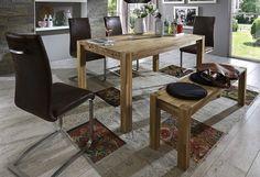 Wirkung durch zeitlose Eleganz. Dieser praktische Esstisch ist aus FSC-zertifizierter massiver Kernbuche. Die Oberflächen sind geölt. Der Tisch läßt sich problemlos durch die mitgelieferten Ansteckplatten verlängern. Wählen Sie zwischen zwei Größen: Kleiner Tisch: (B/T/H) ca. 140/90/75 erweiterbar auf 220 cm Großer Tisch: (B/T/H) ca. 160/90/75 erweiterbar auf 240 cm    Details:  Bestellen Sie d...