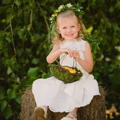Adorable Flower Girl // Sherry Hammonds Photography // The Flower Studio // http://www.theknot.com/weddings/album/139268
