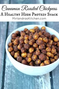 These sweet, crunchy chickpeas deliver in the snack department! You only need fo… These sweet, crunchy chickpeas deliver in the snack department! You only need four ingredients for this healthy, high protein, gluten free and vegan treat! Crunchy Chickpeas, Honey Roasted Chickpeas, Recipes With Chickpeas, Whole Food Recipes, Cooking Recipes, Dinner Recipes, Cooking Pork, Dinner Ideas, Dessert Recipes