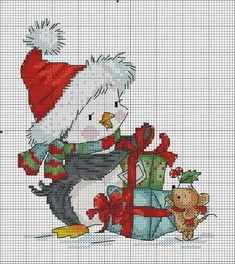 Seed beading or cross stitch pattern 😄 Xmas Cross Stitch, Cross Stitch Christmas Ornaments, Cross Stitch Needles, Christmas Cross, Cross Stitch Charts, Counted Cross Stitch Patterns, Cross Stitch Designs, Cross Stitch Embroidery, Embroidery Patterns