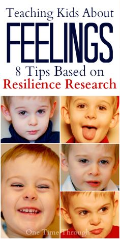 Research based tips for teaching kids about their feelings drawn from mental health authors and experts including Dan Siegel as well as recent resilience research. {One Time Through}