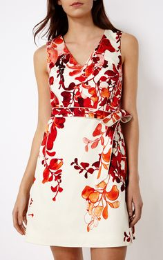 Robes   Rose Robe à imprimé floral   Karen Millen (été 2016)