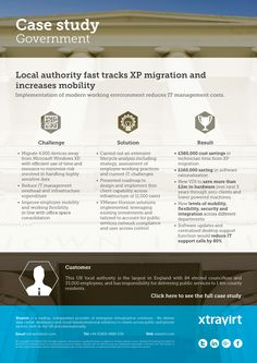 Case Study : Local authority fast tracks XP migration and increases mobility - Implementation of modern working environment reduces IT management costs.