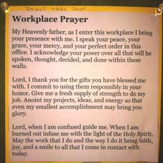 prayers for the workplace | Workplace prayer | Therapy Stuff