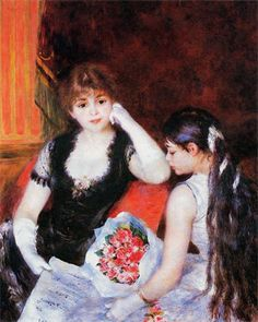 Pierre Auguste Renoir - At the Concert (Box at the Opera) 1880