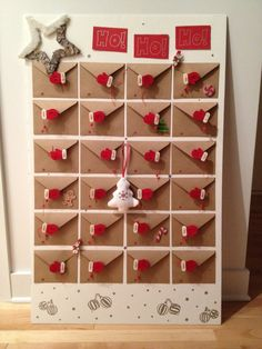 DIY -advent calendar, no directions, but not too hard to figure out...