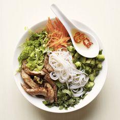 Vietnamese Noodle Bowl with Glazed Pork