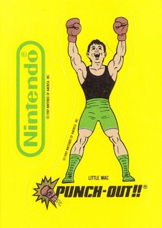 Vintage 1989 Nintendo NES Punch Out Sticker Card Little Mac
