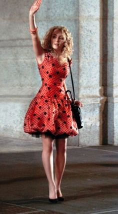 TV show fashion history - The Carrie Diaries - red party dress.jpg