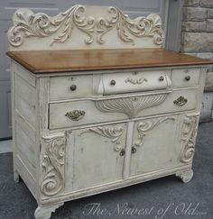 Color Old Ochre and Annie's Dark Wax...Chalk Paint® by Annie Sloan