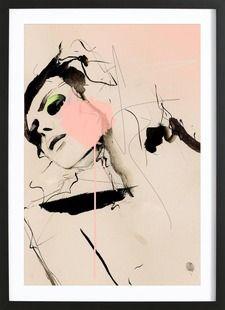 Hence - Leigh Viner - Poster in houten lijst