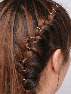 10 PCS Circle Adorn Hair Accessories - SILVER