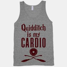 Quidditch Is My Cardio #funny #fitness #cardio #run #workout #potter #quidditch #nerdy