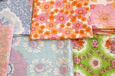 Floral vintage fabric.