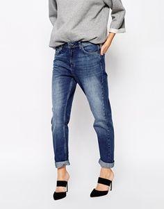 Whistles Boyfriend Jeans in Midwash Denim