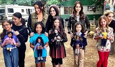 The cast of Pretty Little Liars show off their mini-me's