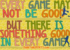 Softball. There Is Something Good In EVERY Game! ChalkTalkSports.com