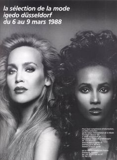 Jerry Hall / Iman, the era when models were truly great!