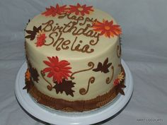 Fall Birthday Cakes FallAutumn Themed Cake for 1st Birthday by