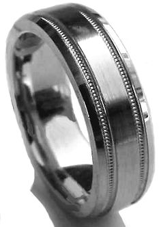 G-052 Available in Palladium, Platinum, and 14k Gold #weddingrings #weddingbands