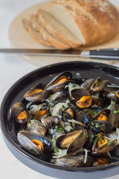 The French, Normandy moules mariniere classic dish made without any cream, excellent for dinner parties or just for a romantic night in.