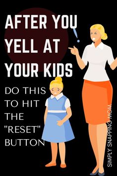 Reset the situation and do these quick things to show your kids you love them after you yell. We all yell sometimes, but make it a teaching moment by using these positive discipline techniques afterwards. Reset Button, Parenting Articles, Positive Discipline, Mom Advice, Mom Humor, Positivity, In This Moment, Teaching, Kids