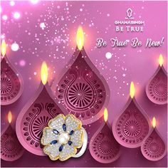 This #Diwali, we will create an experience to remember for you with our #SparklingDiwali offers! All you need to do is, visit Ghanasingh Be True #Jewellery salon soon!