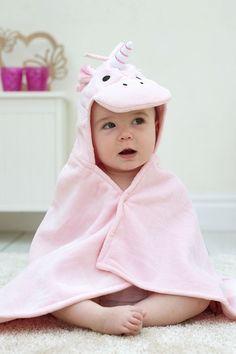 Unicorn Personalized baby bathrobe 100/% cotton Size 0-9 months