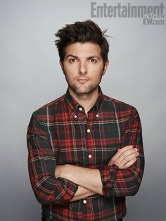 Adam Scott. I ADORE him. But in PLAID? Fugheddabout it! (Please forgive me for that. I'm tired right now, and possibly high on cough drops!)