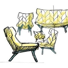 something very personal about looking at a designer's sketches. Kartell Work in Process at Milan Design Week