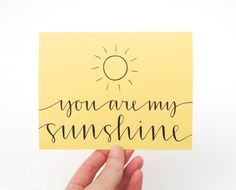 You are my sunshine! :)